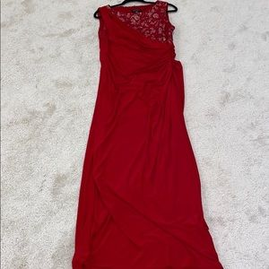 Red lace and sequin dress